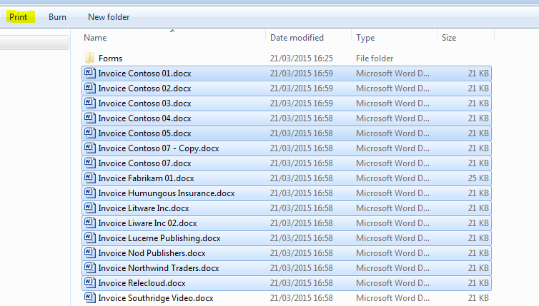 Print Multiple Documents in SharePoint