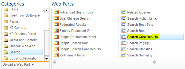 Configure Search Web Part