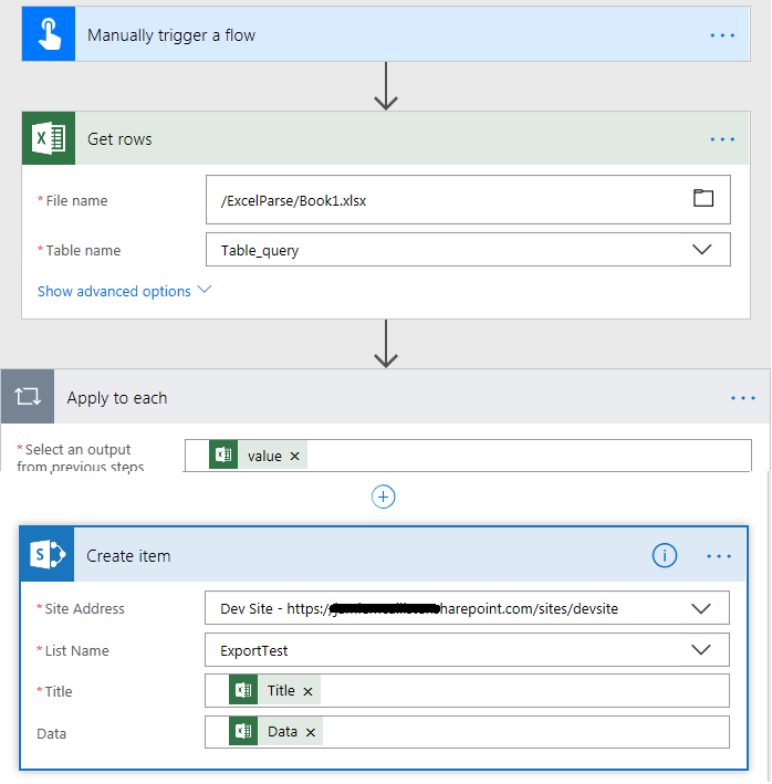 excel uploading to sharepoint